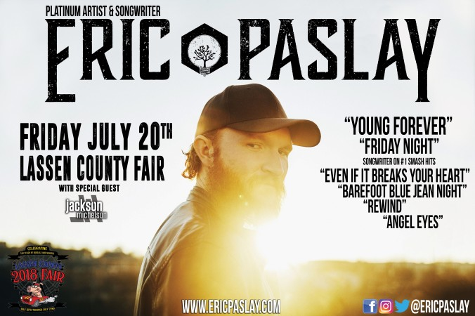 Young Forever Eric Paslay poster - Lassen Co Fair 7-20-18[1][1]
